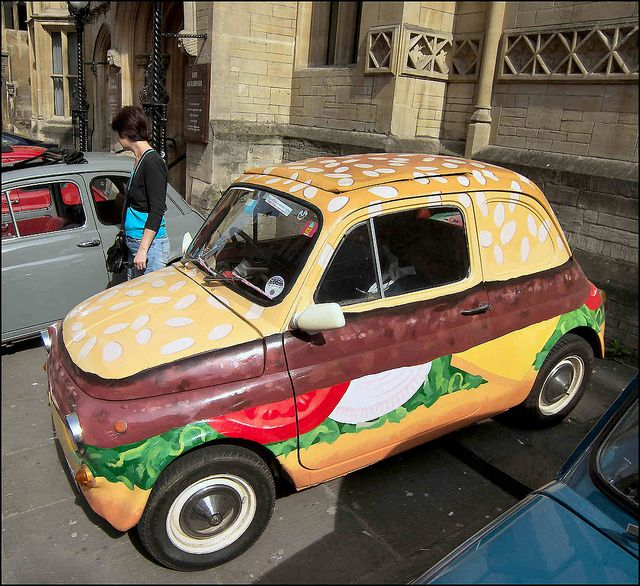 Fiat (Burger) 500 in Bristol | At the Italian Car and Bike S ...