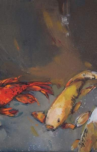 Two koi by Liesel Brune