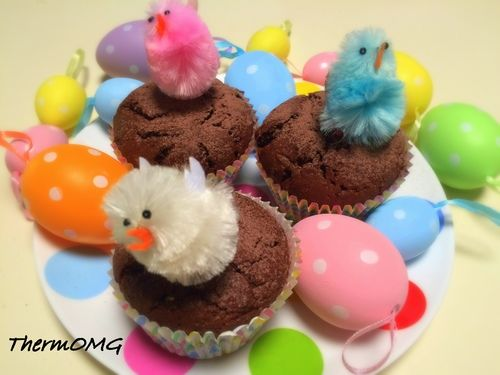 Triple Choc Easter Muffins — ThermOMG