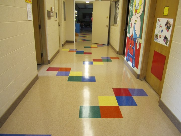 Commercial Vct Vinyl Composite Tile In A Daycare For
