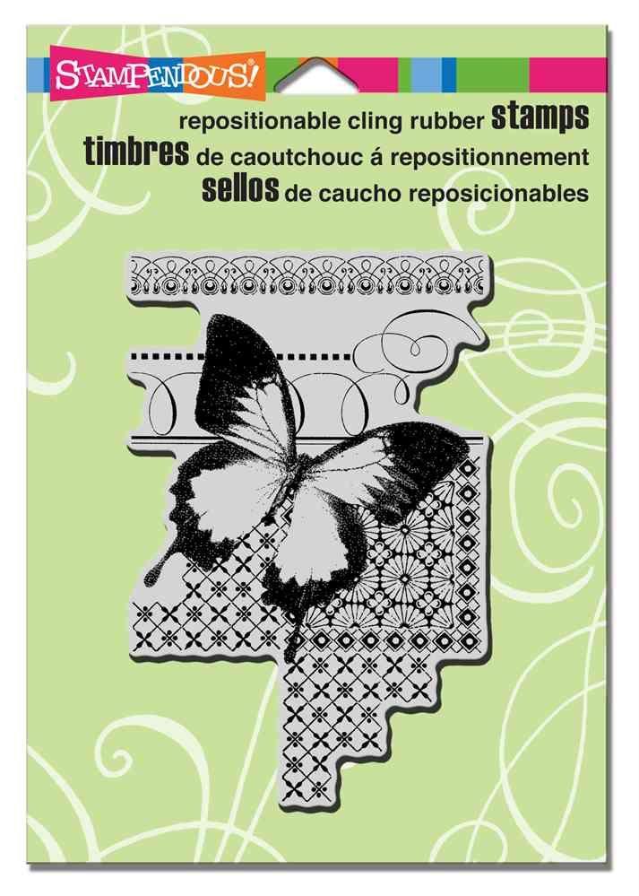Butterfly Pattern on www.addictedtorubberstamps.com