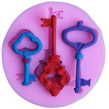 schlüssel modell 3d silikonformen für fondant dekorieren zucker handwerk werkzeuge backen werkzeuge kuchen werkzeuge g049(China (Mainland))
