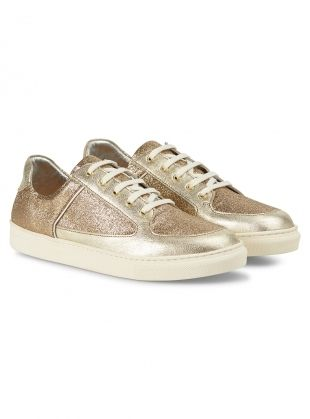 Rose Rankin Gold Glitter Coney Low-Top Sneakers