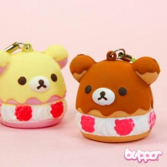 Rilakkuma Squishy Dessert Charm - Straps & Charms - Mobile Accessories | Blippo.com - Japan & Kawaii Shop