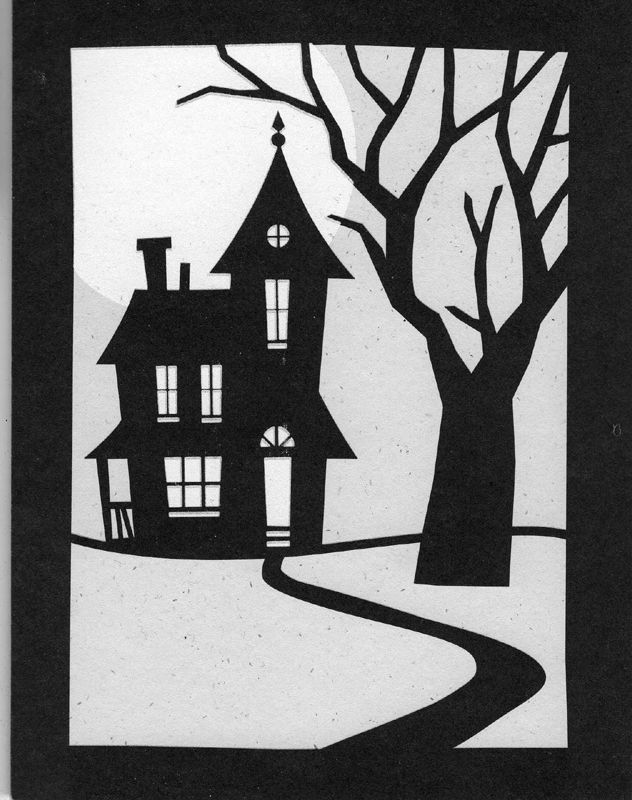 Haunted house template. Halloween. | Howl-o-ween | Pinterest