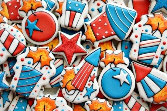 Fourth of July Firecracker Cookies_SweetSugarBelle - Click image to find more food & drink Pinterest pins