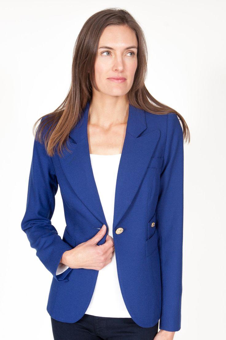 Smythe Duchess One Button Blazer in Cobalt | Blazers | June Ruby