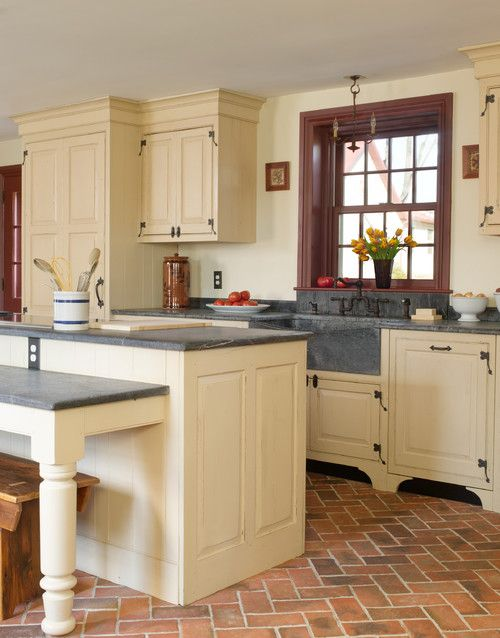 Best 25 brick floor kitchen ideas on pinterest brick for Country kitchen flooring