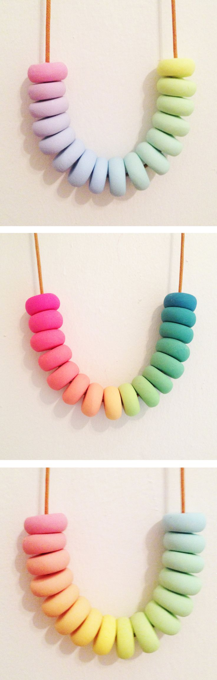 Rainbow Popsicle - Polymer Clay Necklace - Christmas gift - candy minimal - cute - gifts for her - stocking stuffer