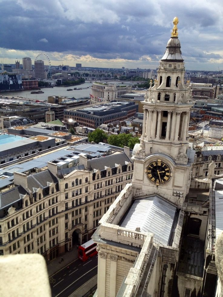 View from the Dome of Saint Paul's Cathedral, London.  We climbed the MANY stairs to the top and took in this sight when we traveled there.....VERY spectacular.