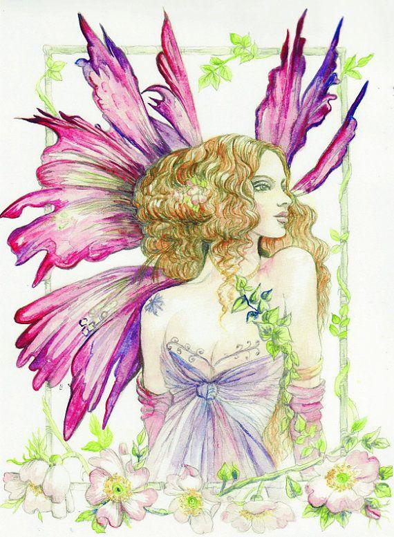 Craft Fabric fantasy fairy collection 1 print by MorgansFaeWorld, £5.99