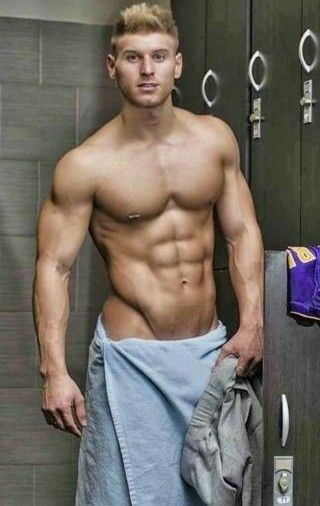 Sexy men in locker room