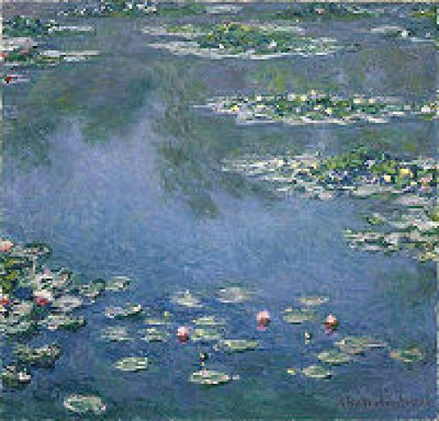 Claude Monet and Vincent Van Goghs famous paintings.