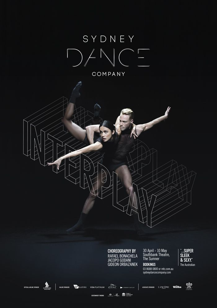 Interplay sydney dance company presents interplay campaign launch poster