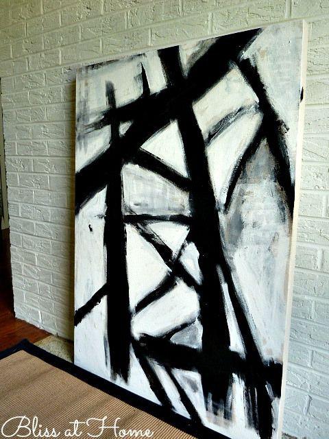 DIY Black and white art