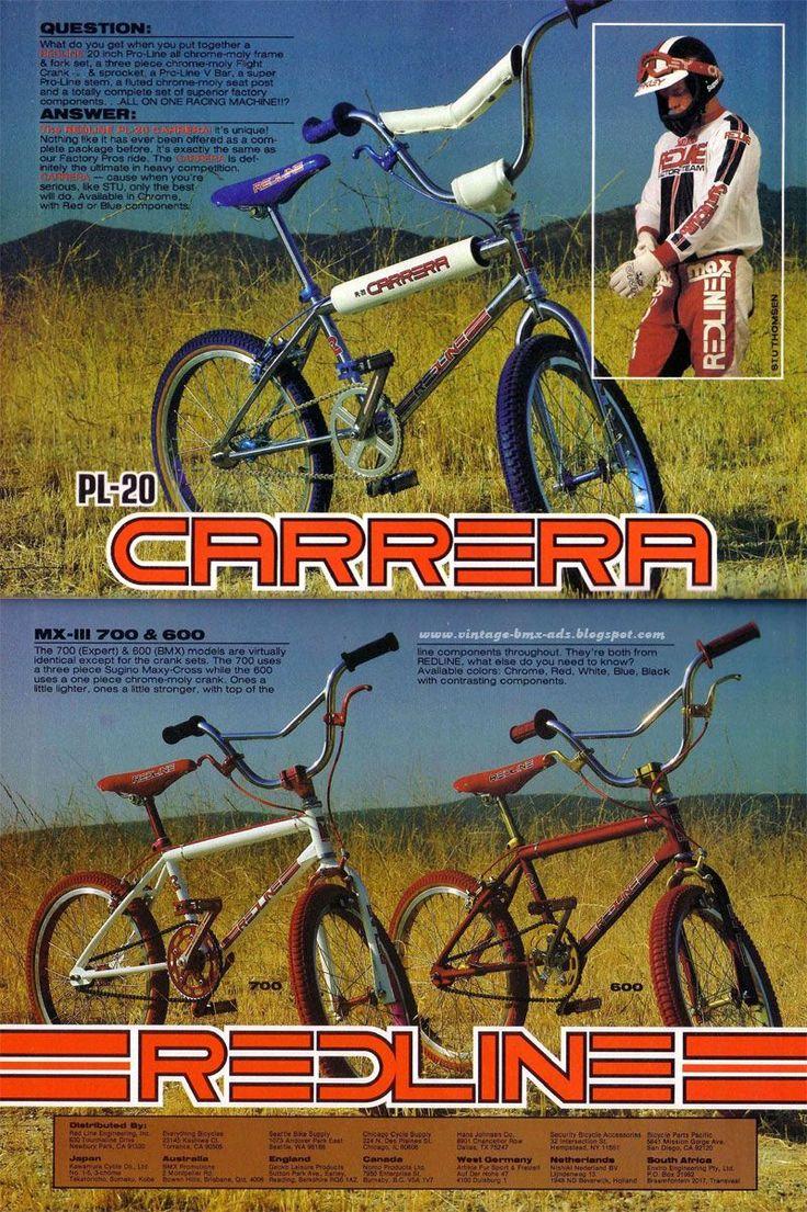 Vintage BMX Ads: REDLINE PL-20 CARRERA