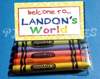 Elmo's World Favor Bag Fold Over signs Customized by PJsPrintables, $5.00
