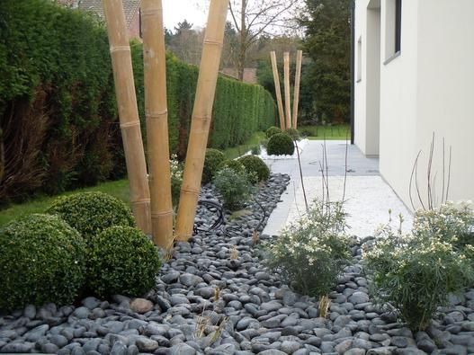 D co bambou galet zen jardin pinterest zen et photos for Modele de parterre exterieur