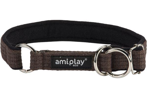 Ami Play Cotton Half Check Collar