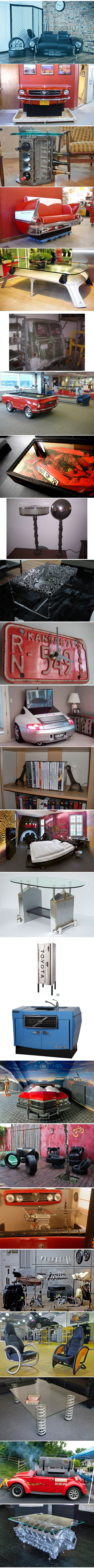 25 Creative Examples of Furniture Made From Car Parts | Mommy Has A Potty MouthMommy Has A Potty Mouth