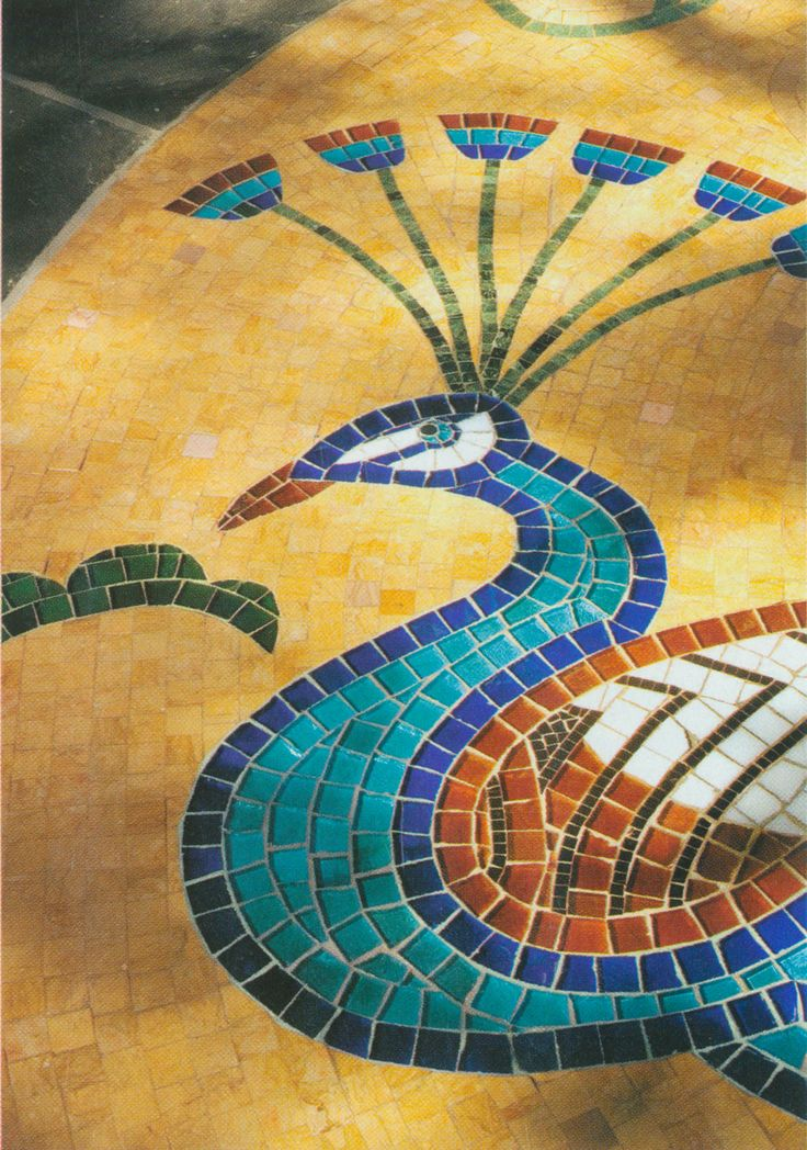 Peacock mosaic by Appomattox Tile Art 127