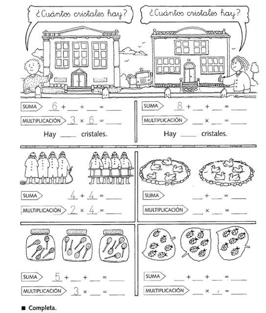 Multiplicación para niños de segundo grado de primaria