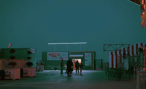 Franck Bohbot's wonderful twilight photographs of Atlantic City's beachfront