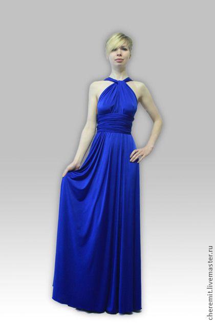 Infinite (платье-трансформер) королевский синий. Множество возможностей предоставляют своим обладательницам вечерние платья трансформеры, разрешающие носить себя короткими и длинными, через одно плечо и с полностью открытыми плечами, чувственно облегающими…