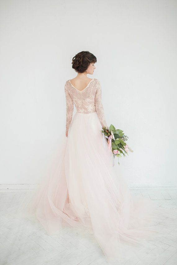 Gorgeous blush gown.