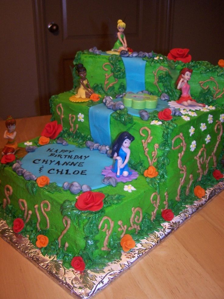 disney fairies birthday cake