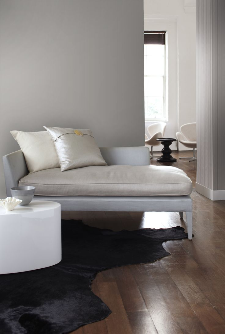 Phoebe beige linen modern chaise lounge see white - Taupe And Linear Stripe Kelly Hoppen