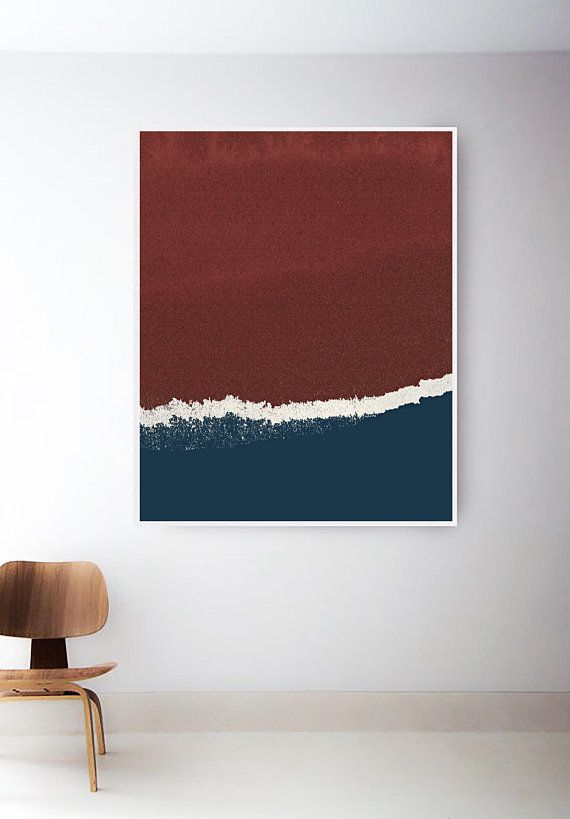 Magnificent Printable Red And Blue Art Print Navy Art Print Abstract Pabps2019 Chair Design Images Pabps2019Com