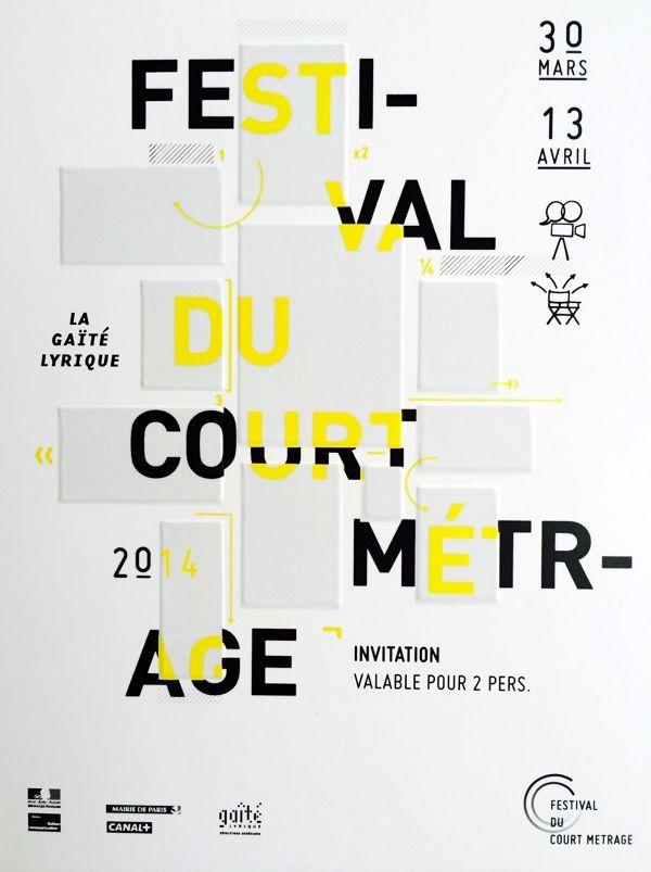 jvnk:  Festival Du Court Metrage Poster by Aurelien Blanchetiere