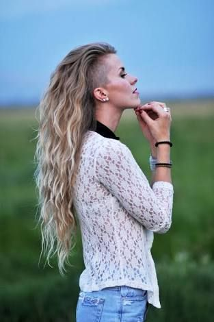 Image result for long hair with shaved side
