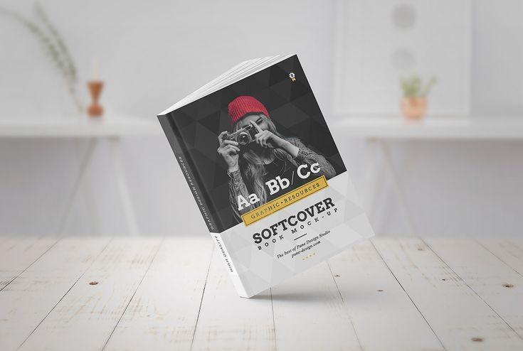 Book Mock-Up / Softcover Edition by PuneDesign on @creativemarket