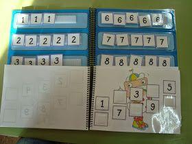 Libro de la serie numérica: los niños tienen que colocar los carteles de los números en el lugar correspondiente para formar la serie numérica.