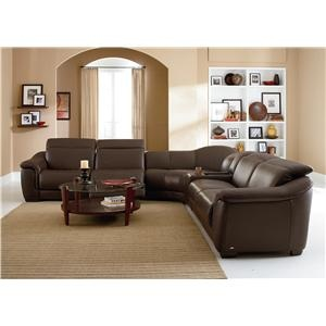 Natuzzi Editions B641 Reclining Leather Sectional With Speakers Living Room Pinterest