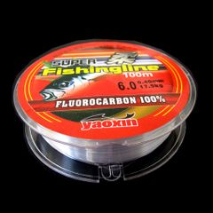 Fluorocarbon line fishing line 100m for fishing fishing tackle 0.8-6 Transparent Fluorocarbon Fishing Line