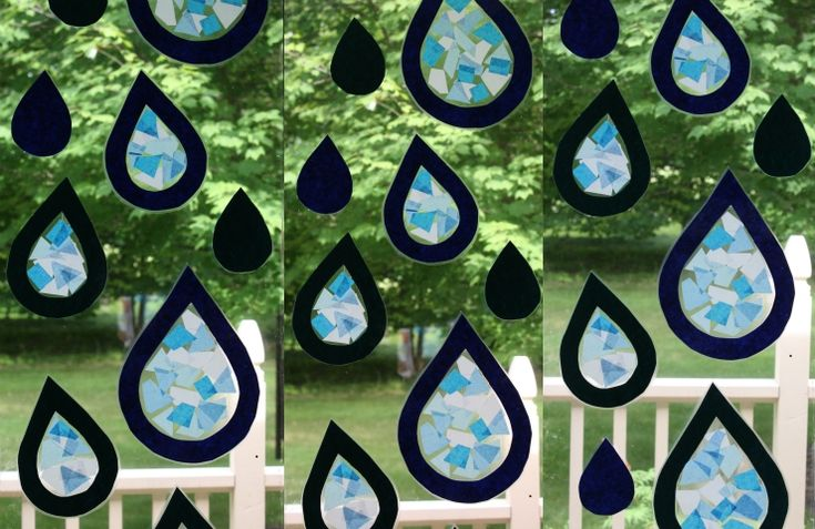 Tissue Paper Stained Glass Raindrops » Wee Folk Art