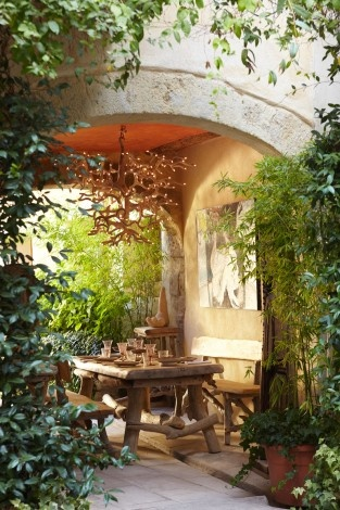 Brie Williams Image: Outdoor Dining, Outdoorliving, Breakfast Nooks, Outdoor Living, Dream, Patio, House, Outdoor Spaces, Garden
