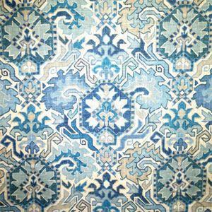3 YD Piece Madrid Blueheaven Southwestern Drapery Fabric - SW56884-Piece | Discount By The Yard | Fashion Fabrics