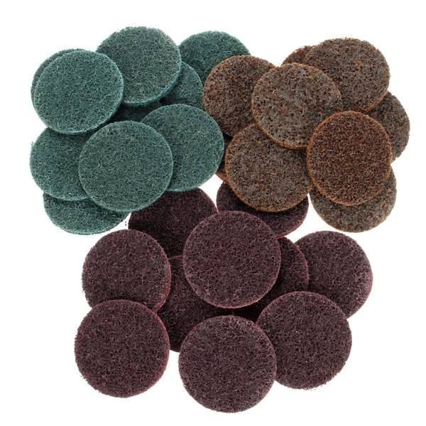 30pcs 2 Inch Roloc Roll Lock Surface Conditioning Fine Medium Coarse Sanding Discs  Worldwide delivery. Original best quality product for 70% of it's real price. Buying this product is extra profitable, because we have good production source. 1 day products dispatch from warehouse. Fast...
