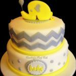 Baby Shower cake with elephant,