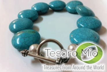 $5 off our Turbulent Turquoise Bracelet (reg $29) http://www.clipdeals.com/company/tesoromioca