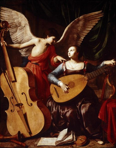 St. Cecilia and the Angel Carlo Saraceni––1610