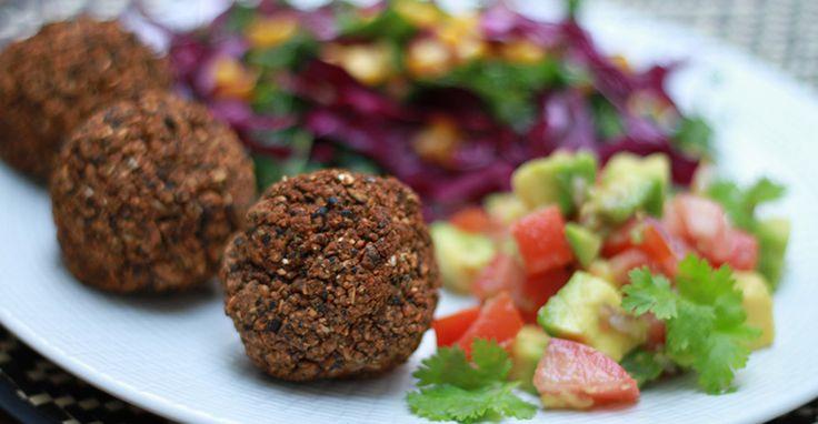 Black Bean Falafel & Avocado Salsa - Nutrition Studies Plant-Based ...