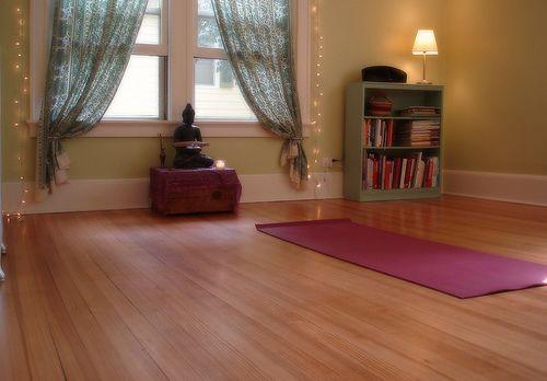 yoga practice space: Yoga Routine, Yogaroom, Yoga Meditation, Room Ideas, Home Yoga Studios, Meditation Room, Yoga Spaces, Yoga Rooms, Home Yoga Room