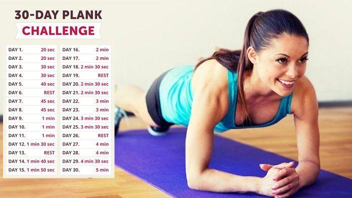 Latihan Plank - Lakukan Tantangan 30 Hari! Punya Perut Rata Bukan Hanya Mimpi!