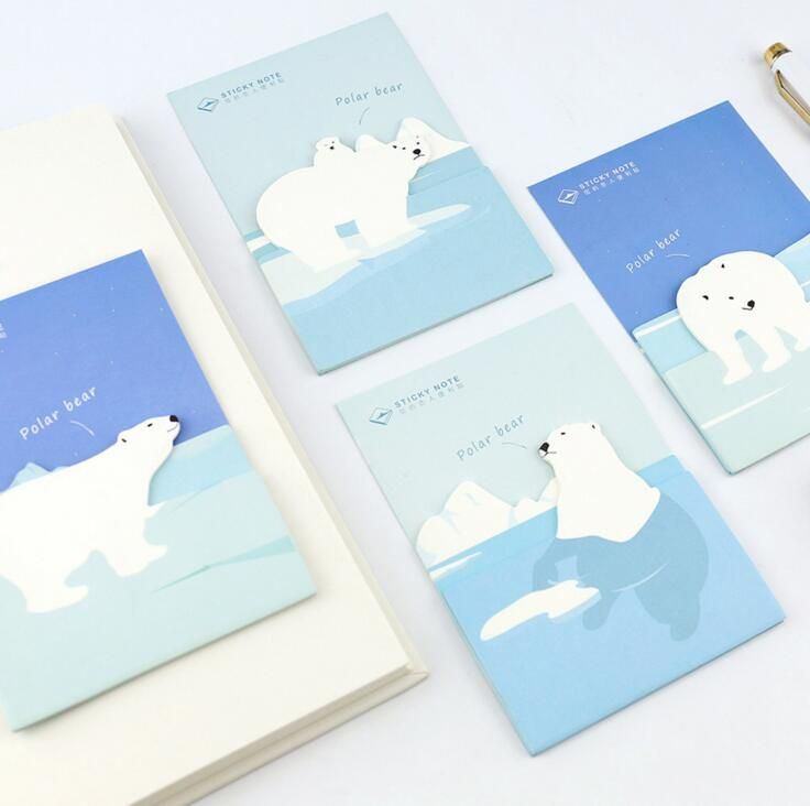 Novelty Polar Bear Self-Adhesive Memo Pad Sticky Notes Post It Bookmark School Office Supply #CLICK! #clothing, #shoes, #jewelry, #women, #men, #hats