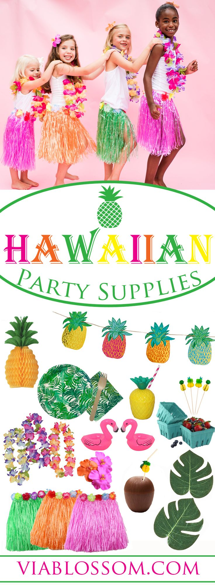you don't want to miss our fabulous Luau Party supplies!  They are perfect for a Moana birthday party or a Hawaiian themed party or a tropical party!  If you're looking for Luau Party ideas look no further!